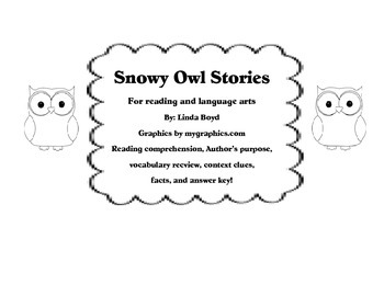 Snowy Owl Stories for reading comprehension, world text, f