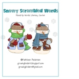 Snowy Scrambled Words - Mixed Up Words Literacy Center