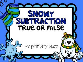 Snowy Subtraction - True or False?