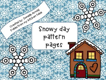 Snowy day pattern pages