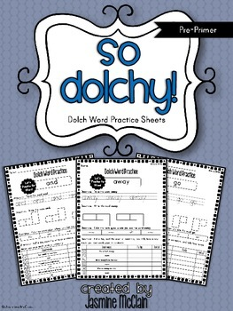 So Dolchy! Pre-Primer Dolch Word Practice