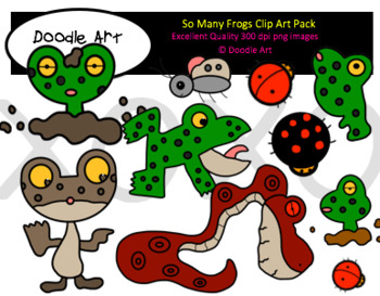 So Many Frogs Clipart Pack