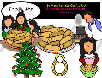 So Many Tamales Clipart Pack