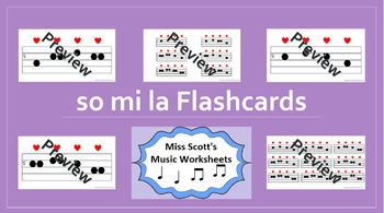 So Mi La Music Flashcards