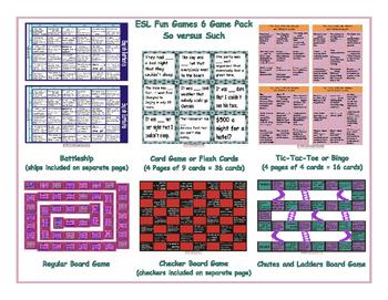 So versus Such 6 Board Game Bundle