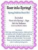 Soar into Spring.  Spring Bulletin Board Set Idea.  Hot Ai