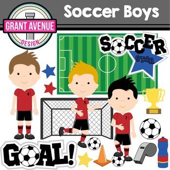 Soccer Boys Clipart