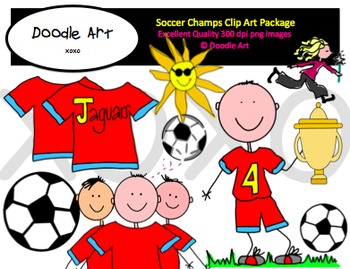 Soccer Champs Clipart Pack