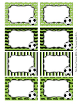 Soccer Classroom Decor Bin Tag Labels