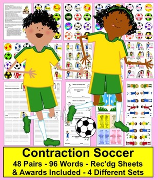 Soccer Literacy Centers: Contractions Soccer Activities -
