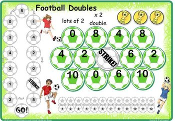 Soccer Doubles and Halves to 10