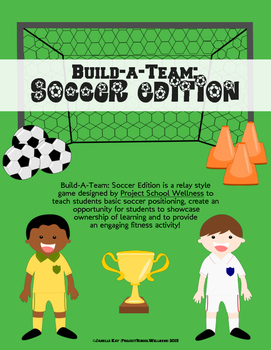 Soccer Fitness Activity - Build-a-Team Relay, Middle School PE)