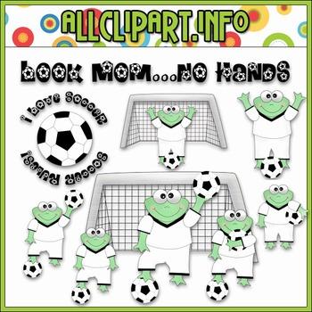 $1.00 BARGAIN BIN - Soccer Frogs Clip Art