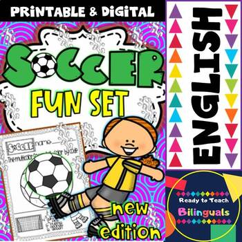 Soccer Fun Set (Ready to print Worksheets for Maths and EL