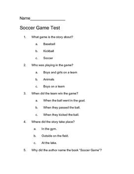 Soccer Game Comprehension Test