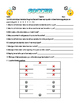 Soccer Handout and Worksheet
