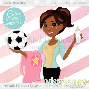 Soccer Mom 003- Commercial Use Character Graphic