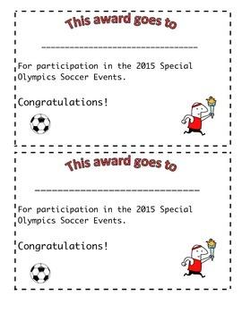 Soccer Olympics Awards