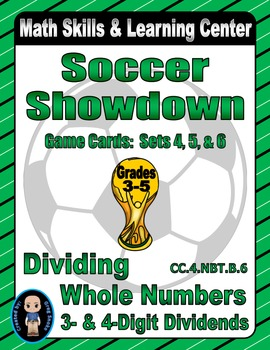 Soccer Showdown Game Cards (Division with 3- & 4-Digit Div