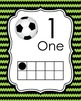 Soccer Ten Frame Posters - 0 to 20