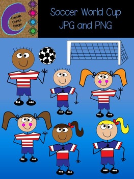 Soccer USA World Cup Clip Art Graphics Set  14 Total Images! FREE