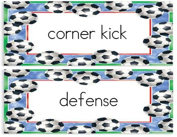 Soccer Word Wall!
