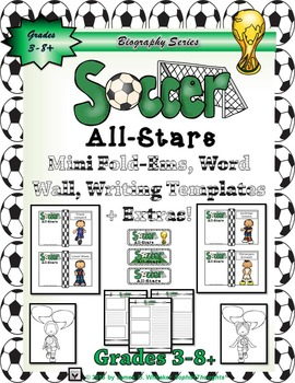 Soccer World Cup All-Stars Mini Research Fold-Ems, GOs and