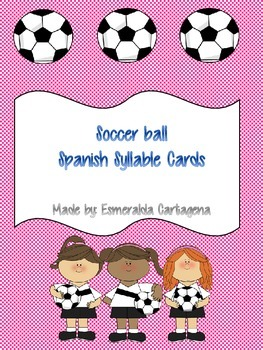 Soccer ball Spanish Syllable Cards for handwriting practice
