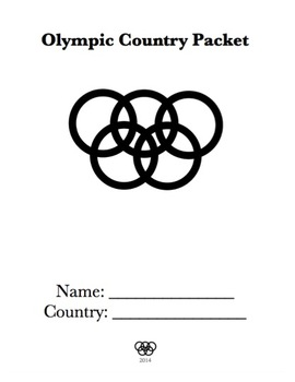 Sochi Winter Olympic Games Packet.