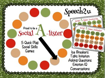 Social A-lister: Conversations, Social Skills, Speech Therapy