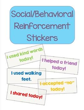 Social/Behavioral Reinforcement Stickers