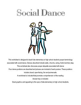 Social Dance Handout and Worksheet