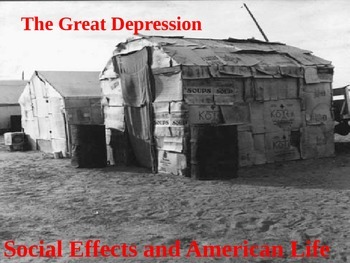 Social Effects of the American Great Depression