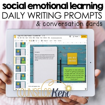 Social Emotional Learning Writing Prompts/Conversation Starters