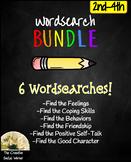 Social/Emotional Wordsearch Bundle 2nd-4th: Feelings, Frie