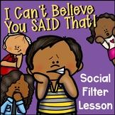 Social Filter Scenario Sorting Task Cards