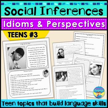 Social Skills, Idioms, Nonverbal Problem Solving for Teens