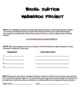 Social Justice Research Project