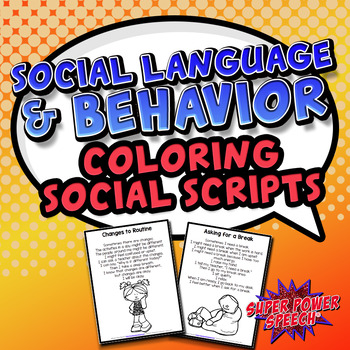 Social Language and Behavior- Coloring Book Lessons