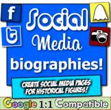 Social Media Biographies! Four engaging, fun, & popular so
