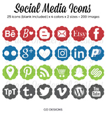 Social Media Icons: Blog Buttons, Social Media, Periscope