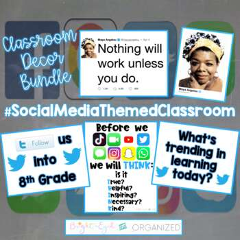 Social Media Technology Twitter Theme Classroom Decoration