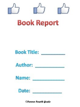 Social Media Themed Book Report (upper elementary and midd