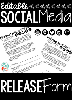 Social Media and Tech Release Form