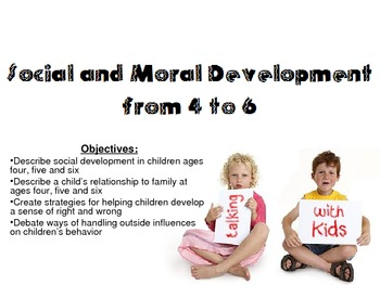 Social & Moral Development of ages 4-6 Powerpoint for Chil