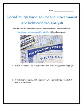 Social Policy: Crash Course U.S. Government and Politics V