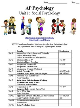 Social Psychology Complete Unit for Psychology