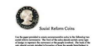 Social Reform Coins