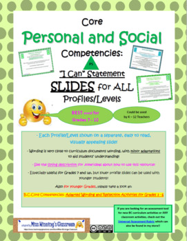 Social Responsibility Core Competencies Profiles Slides (N