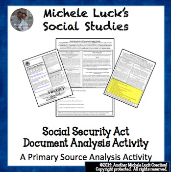 Social Security Act Document Analysis Activity